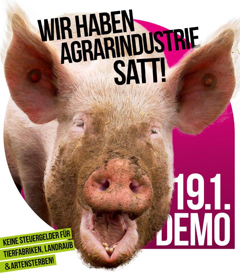 Wir haben es satt! Demo am 19.01.2019 in Berlin